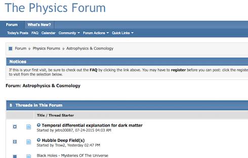 The Physics Forum