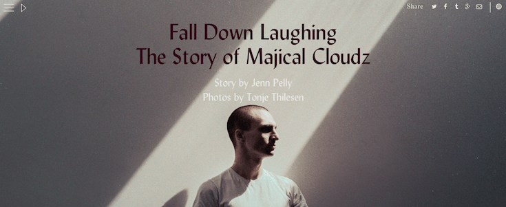 We've been talking about Pitchfork's parallax Cover Stories for a while now and it's easy to see why.
