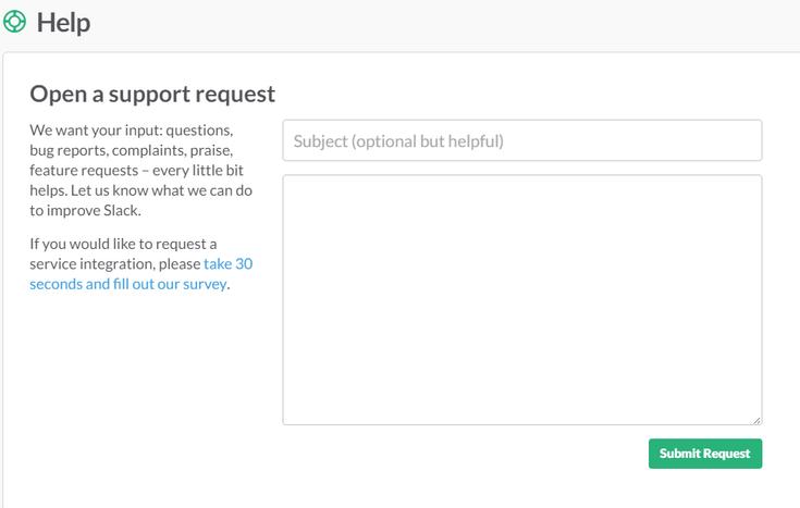 slack-support