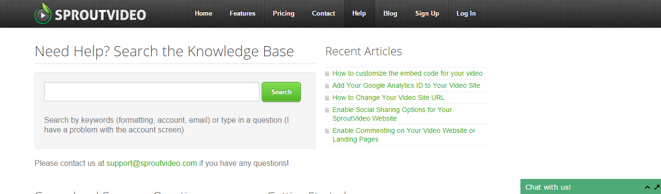 Help page
