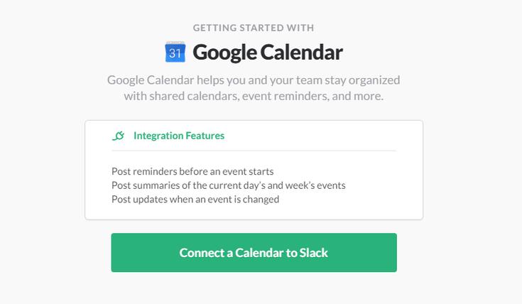 Stack's Google Calendar Integration Options
