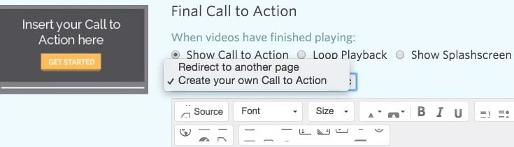 Creating a Call to Action
