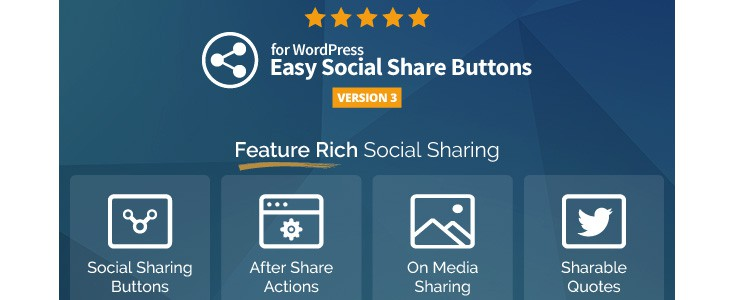 Easy Social Share Buttons plugin