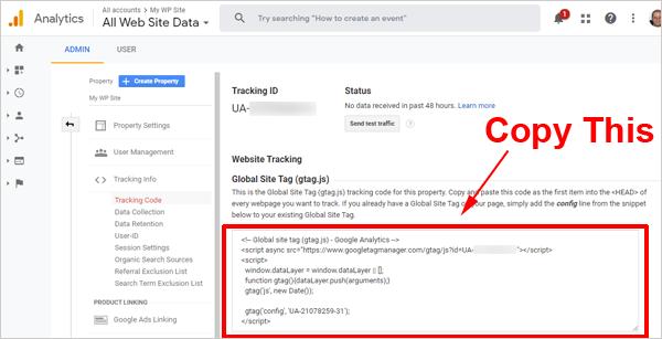 Google Analytics tracking code.