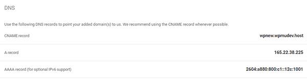 WPMU DEV Hosting dashboard, Domains tab