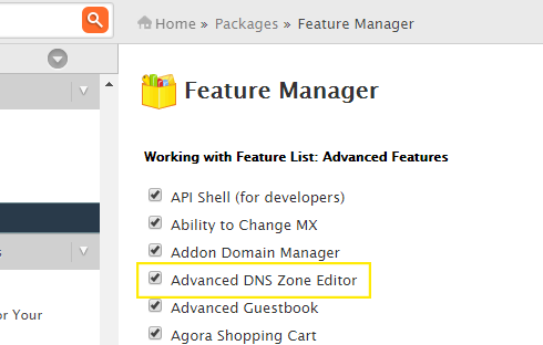 "Adding features to the list in the ""Feature Manager."""