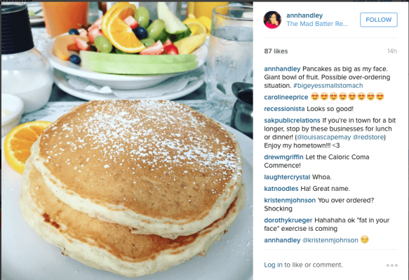 Handley's Instagram feed offers a behind-the-scenes look at her life.