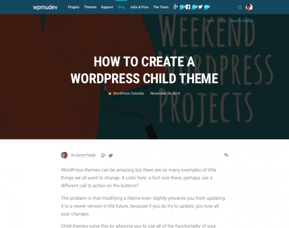 Creating a child theme - tutorial by WPMU DEV