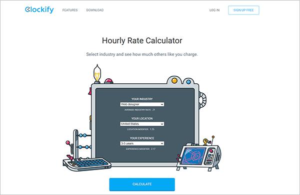 Clockify hourly rate calculator