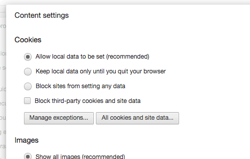 Go to your browser's settings to control cookies.