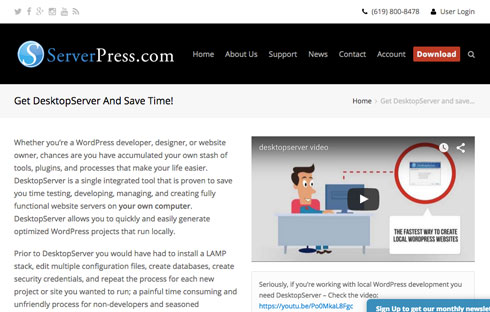 DesktopServer is a great option for setting up a localhost environment for WordPress.