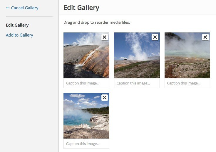 A WordPress gallery
