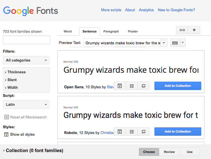 Google fonts is a great source of free fonts – make sure the ones you use are legible across devices.