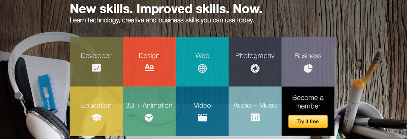 Lynda: Learn software, creative, and business skills to achieve your personal and professional goals.