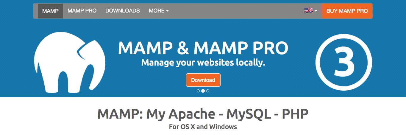 MAMP website