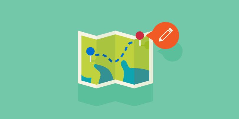 A map illustration