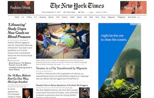 The New York Times is a classic example of a subscription-based online periodical.