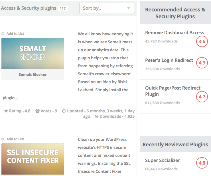 Recommended and reviewed listings