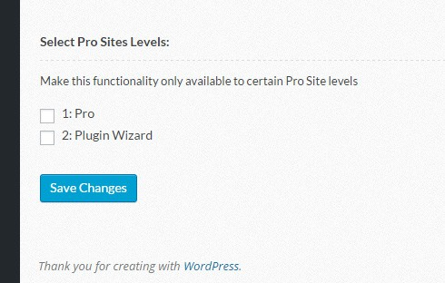 "The ""Select Pro Sites Levels"" in the domain mapping settings."
