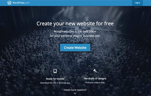 WordPress.com offers free web hosting.