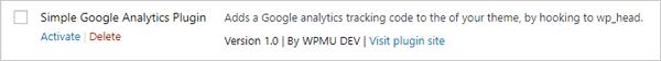 WordPress Google Analytics plugin google analytics plugin