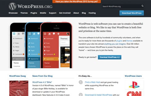 WordPress.org offers software so you can self-host your own website.