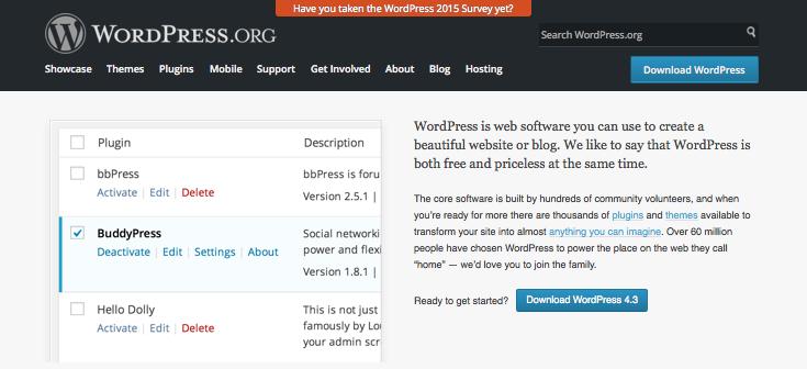 WordPress.org home page