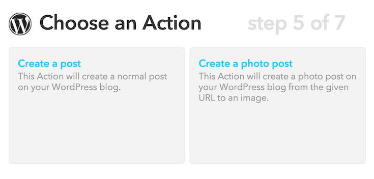 IFTTT WordPress Post