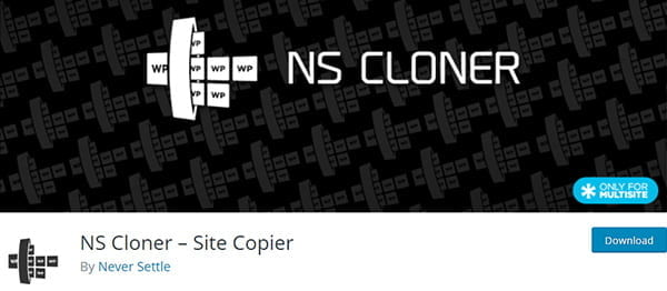 NS Cloner plugin for WordPress to clone Subsites on a Multisite Network