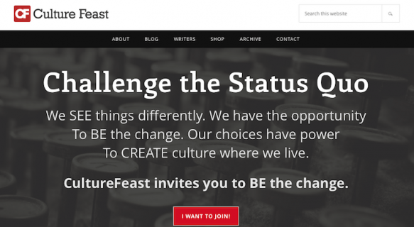 Culture Feast: Easy to read and professional.