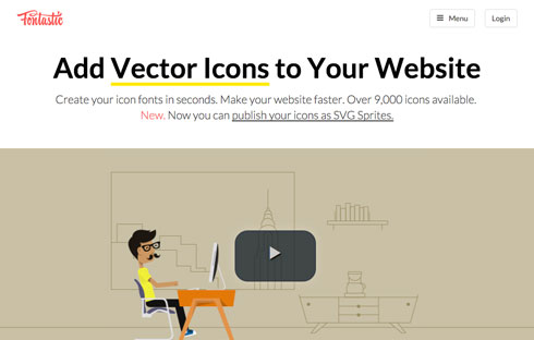 Create your icon fonts in seconds.
