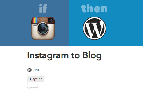 Once you've connected your Instagram and WordPress accounts, you can add titles, tags, categories and other details.