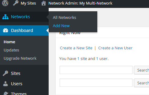 "The new ""Networks"" tab in the super admin dashboard."