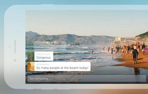 With Periscope you can broadcast from anywhere on your smartphone.
