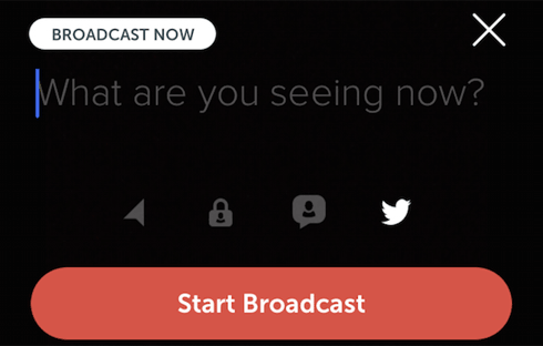 Just give your broadcast a name, toggle some settings, and get started.