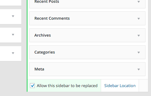 Make sure you can actually replace your sidebar.