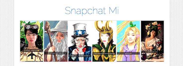 Snapchat MI is a WordPress-based site featuring a Snapchat portfolio.