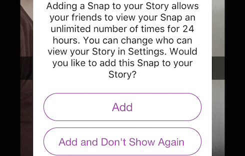 Make your Snaps more widely available with the Story feature.