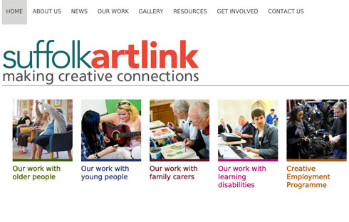 Suffolk Artlink, a charity group.