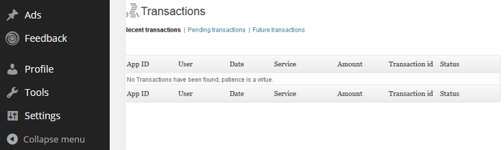 Transactions are recorded through PayPal.