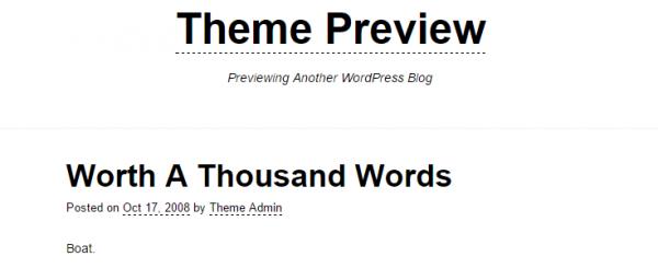 Underline theme