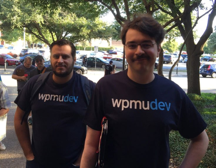 Our CTO Aaron Edwards and Michael Bissett from our support team.