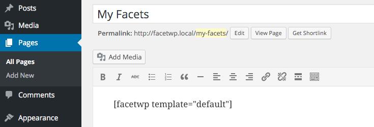 Adding templates via shortcode.