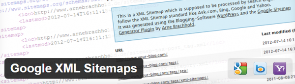 Google XML Sitemaps generate XML sitemaps for WordPress sites.