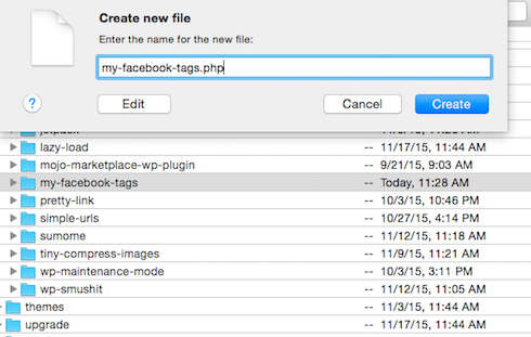 The PHP file goes in the folder, of course.