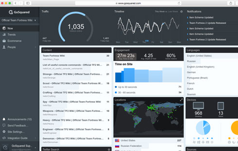Take control of your online business with beautifully simple, yet powerful analytics.
