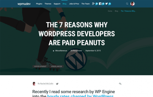 WordPress developers aren't paid enough, but that doesn't mean we should work for free.