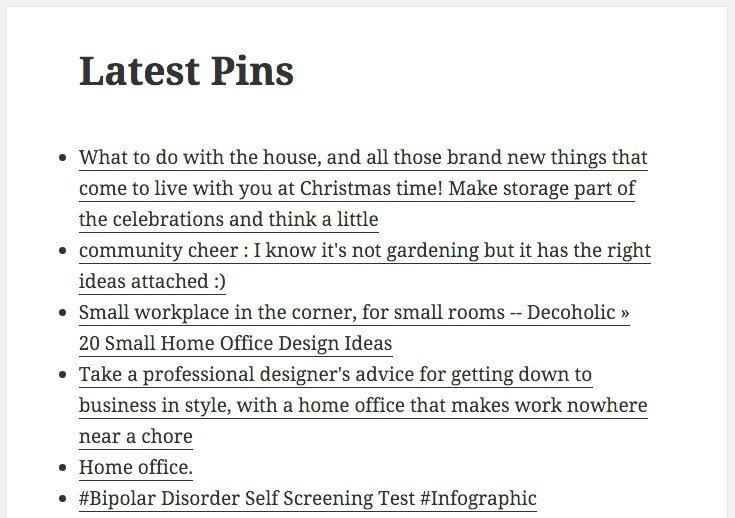 Pins from Pinterest