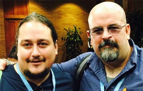 Me and developer David Morefield.