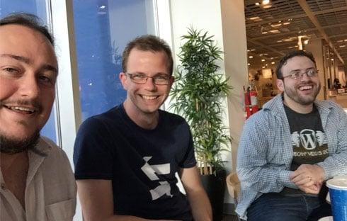 Me with contributor Richard Tape and CalderaWP developer Josh Pollock.